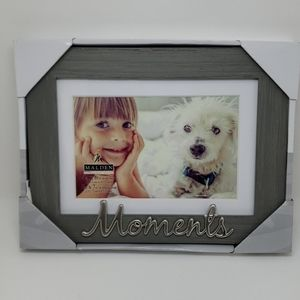 Malden Accents - Malden 4x6  matted Picture Frame Gray & Silver NWT